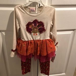 Girls Thanksgiving Outfit (2 Piece)